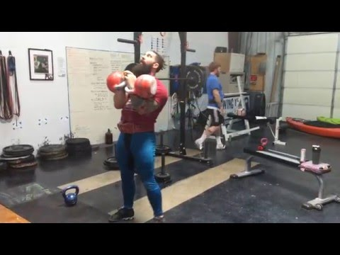 Barbell Jump Squats and Rack Calf Bumps for Kettlebell Jerk or Long Cycle