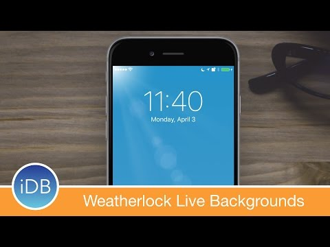 [Tweak] Weatherlock Brings Live Weather to Your Lock Screen Background