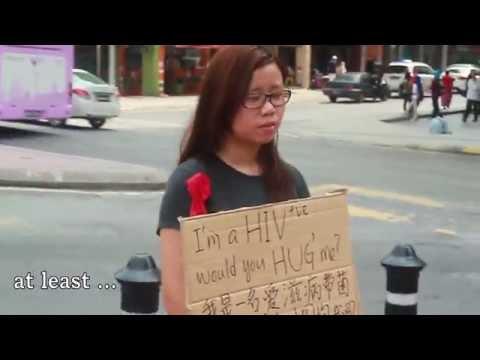 I M Hiv Positive Would You Hug Me Malaysia Social Experiment