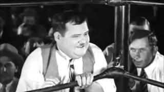 El gordo y el flaco -  La batalla del siglo - Cine Mudo - (Subtitulos en Español)