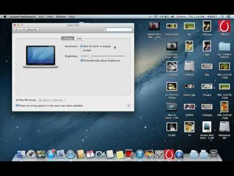Change screen resolution on your Mac OS
