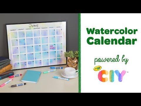 DIY Crayola Watercolor Calendar || Crayola CIY: Create It Yourself