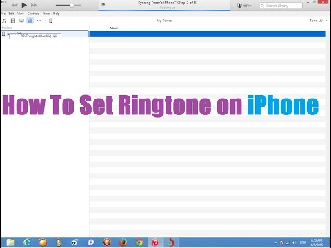 How to set ringtone on iPhone 4/5/6 From iTune