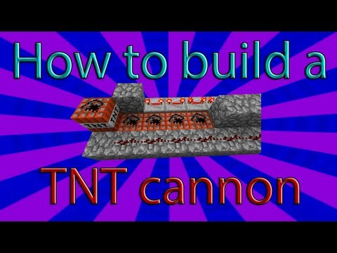 Minecraft - TNT Canon Tutorial (Normal, Hybrid, and Fire Bow Cannons)