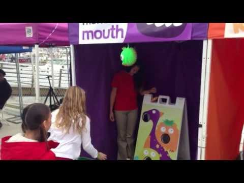 Monster Mouth Bean Bag Toss Carnival Game Party Jumper Rentals Murrieta and Temecula