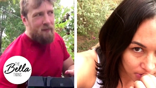Daniel Bryan is caught red-handed by Brie!  Picking mulberries that is 😋