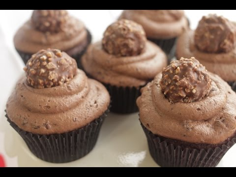 How to Make Ferrero Rocher Cupcakes | Simply Bakings