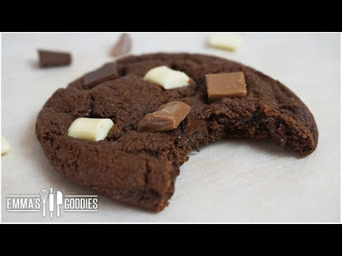 Triple Chocolate Chunk Cookie Recipe - Chewy Chocolate Cookie Recipe