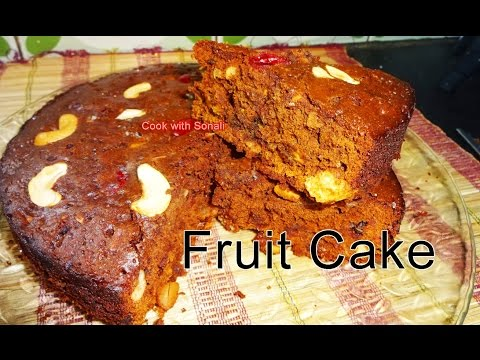 Fruit Cake | Fruit Cake in Gas Oven | Fruit Cake in Microwave | Fruit Cake by Cook with Sonali