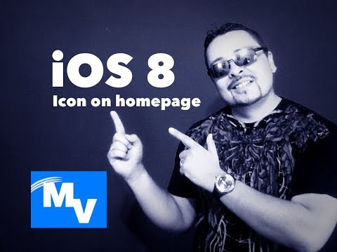 How to add an icon shortcut from a website on your home page iOS 8