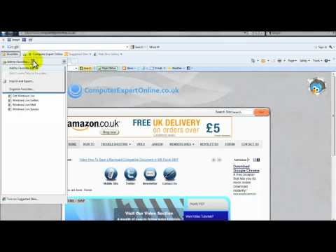 How To Create A Bookmark In Internet Explorer