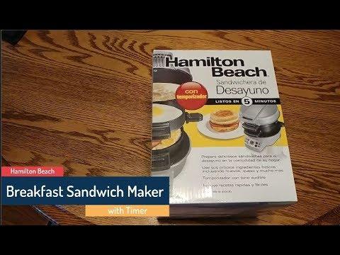 Hamilton Beach Breakfast Sandwich Maker with Timer