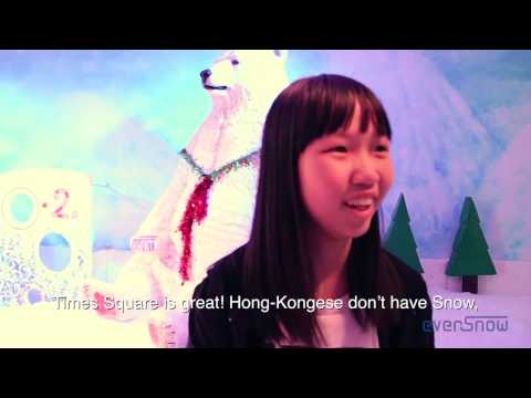 White Christmas in Times Square Hong Kong by EverSnow Asia