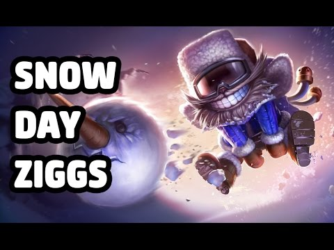Snow Day Ziggs Skin Spotlight OLD
