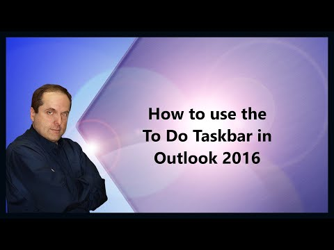 How to use the To Do Taskbar in Outlook 2016