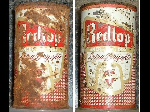 Removing Rust from  Old Beer Cans and Soda Cans