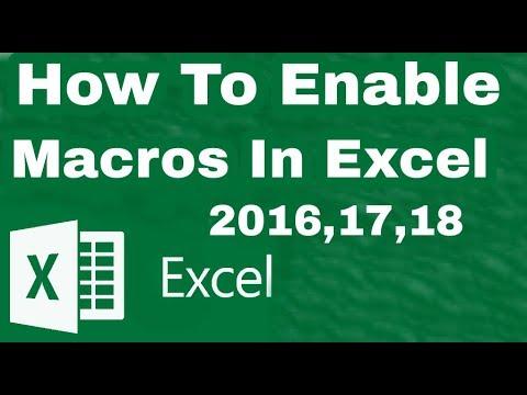how to enable macros in excel 2018,how to create macro in excel