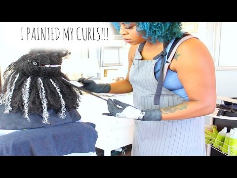 I Painted My Curls! | New Natural Hair Color