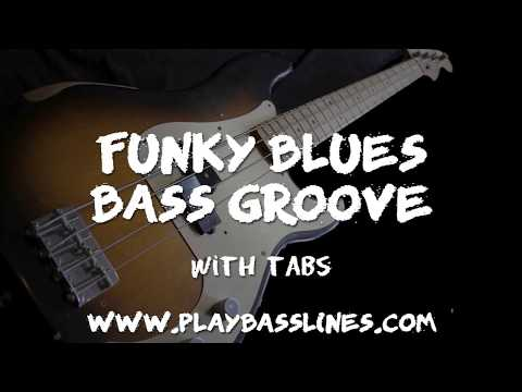 Funky Blues Bass Groove in A with TABs