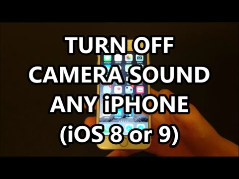 iPhone 6S Camera Shutter Sound Effect Turn Off or On Any iPhone iOS 9.3