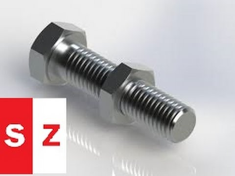 Solidworks bolt tutorial and nut with download link | solidworks.