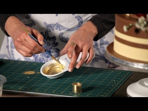 How to Paint with Gold | Wedding Cakes