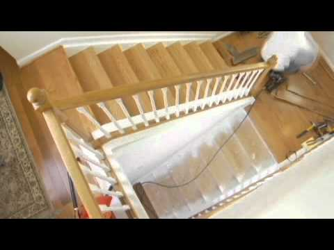How to install wood on stairs - StareCasing Installation Training