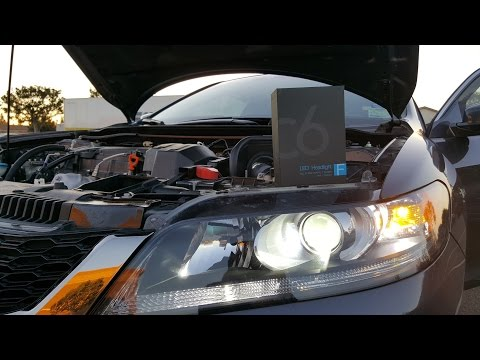 Simdevanma 72W 7600LM LED Headlight Bulb Review Installation and Demo