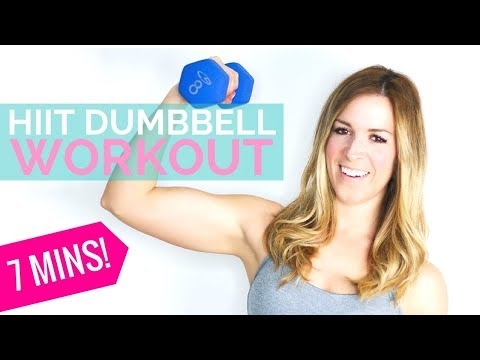 HIIT Dumbbell Workout for Women | HIIT Cardio with Weights