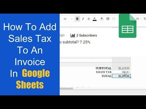 How To Add Sales Tax To An Invoice In Google Sheets