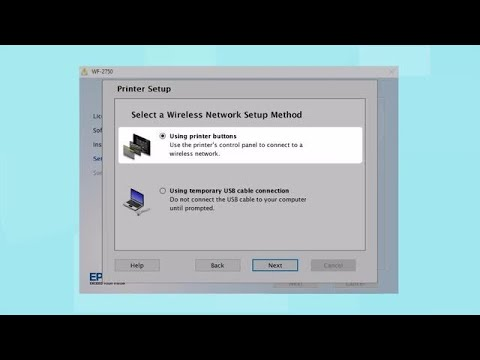 Epson WorkForce WF-2750 | Wireless Setup Using the Printer's Buttons