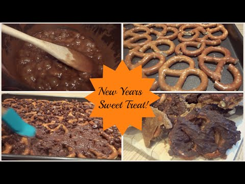 New Years Sweet Treat | Caramel & chocolate Covered Pretzels!