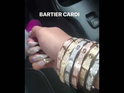 CARDI B WITH EVERY COLOUR CARTIER BRACELET