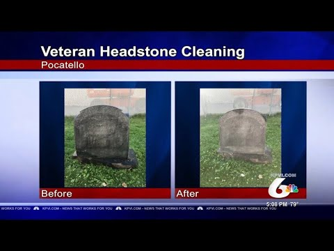 Volunteers Clean Local Headstones