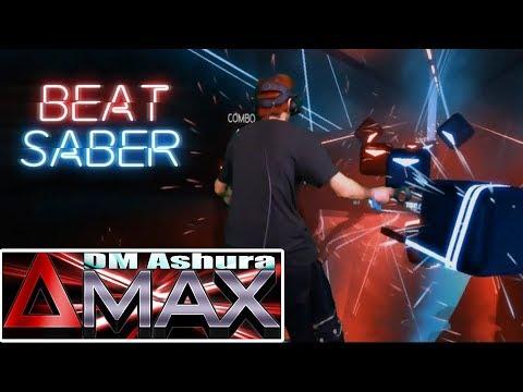 Beat Saber CUSTOM SONG - DeltaMAX (573 BPM!!!) (LIV Mixed Reality)