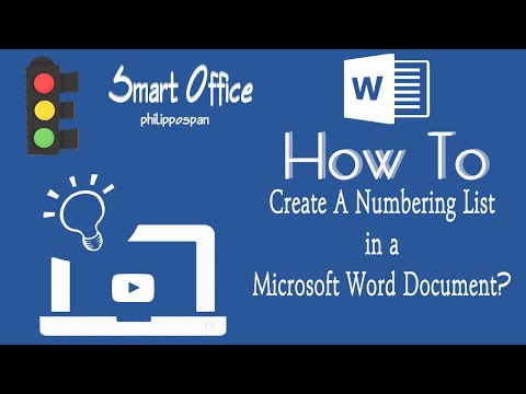 Numbering Lists in a Word Document