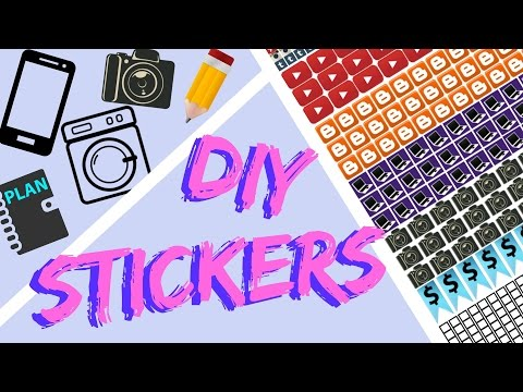 How to Make Stickers   DIY Custom Planner Stickers