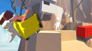 *FUNNY* LAUNCHED OFF A CLIFF... (Human Fall Flat)