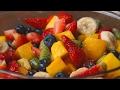 Rainbow Fruit Salad With Honey Lime Dressing