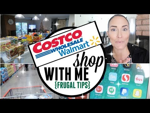 DECEMBER COSTCO & WALMART SHOP WITH ME VLOG HAUL ● FRUGAL GROCERY SHOPPING TIPS ● COSTCO ON A BUDGET