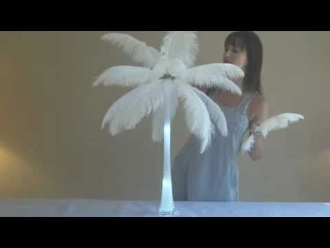 How to Make Ostrich Feather Centerpieces