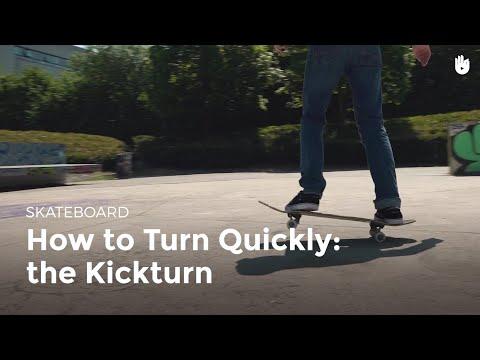 How to Turn Fast: The Kickturn | Skateboarding
