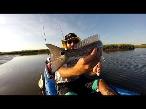 Kayak fishing JAX, FL. Redfish and Flounder