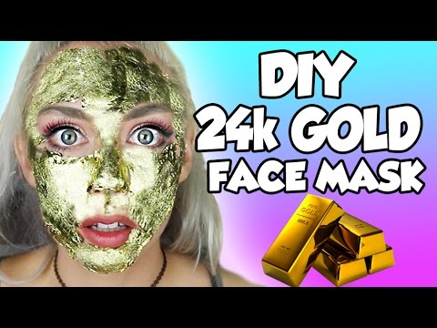 DIY 24K GOLD PEEL OFF EDIBLE FACE MASK AND RUB IN FACE MASK! COVER YOUR FACE IN REAL GOLD! SO EASY