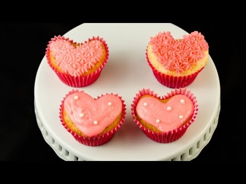 How to Make Heart Shaped Cupcakes for Valentine's Day by Cookies Cupcakes and Cardio