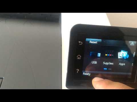 HP Color LaserJet PRO  M252dw Configure IP network settings,wifi defaultpassword ,menu