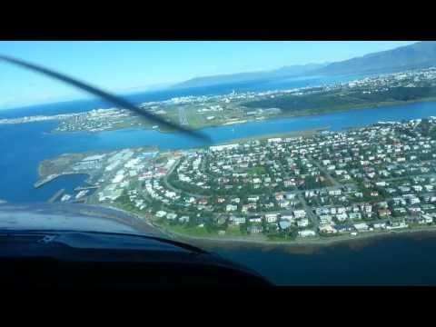 Landing In Reykjavik Domestic Airport