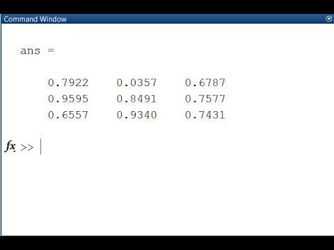 Working with Arrays in MATLAB - Special Arrays in MATLAB
