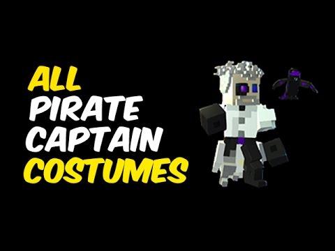 All Pirate Captain Costumes in Trove