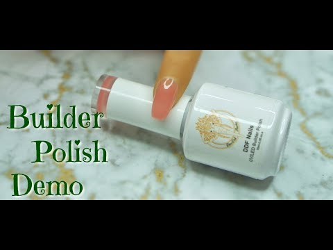 Gel Nails At Home | Builder Polish Demo | 2018 | DivaDollFlawless
